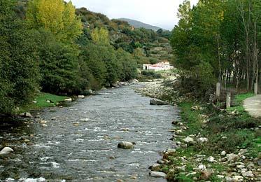 Río Jerte, entre las poblaciones de Navaconcejo y Cabezuela del Valle