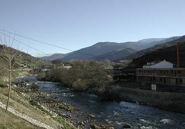 Invierno, miramos al norte, junto a la población de Cabezuela del Valle