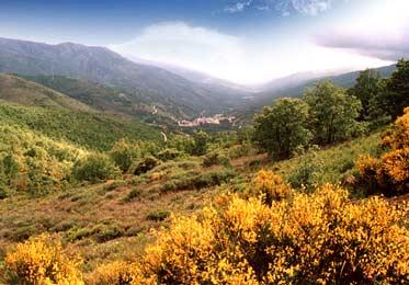 Vista del valle desde el puerto de Tornavacas